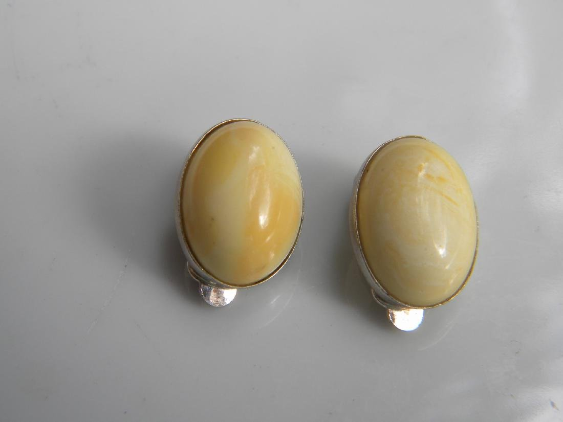 Pair of Natural Baltic Amber Earrings