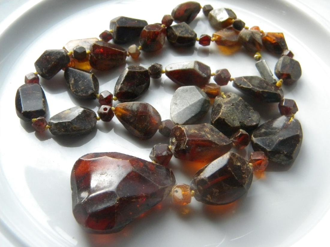 Antique Baltic Amber Necklace with Pendant