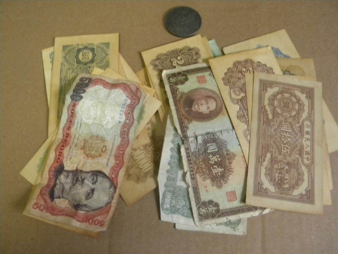 Group of Chinese Money and Coins