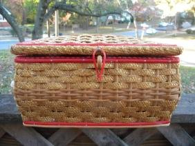 Vintage Sewing Kit Basket