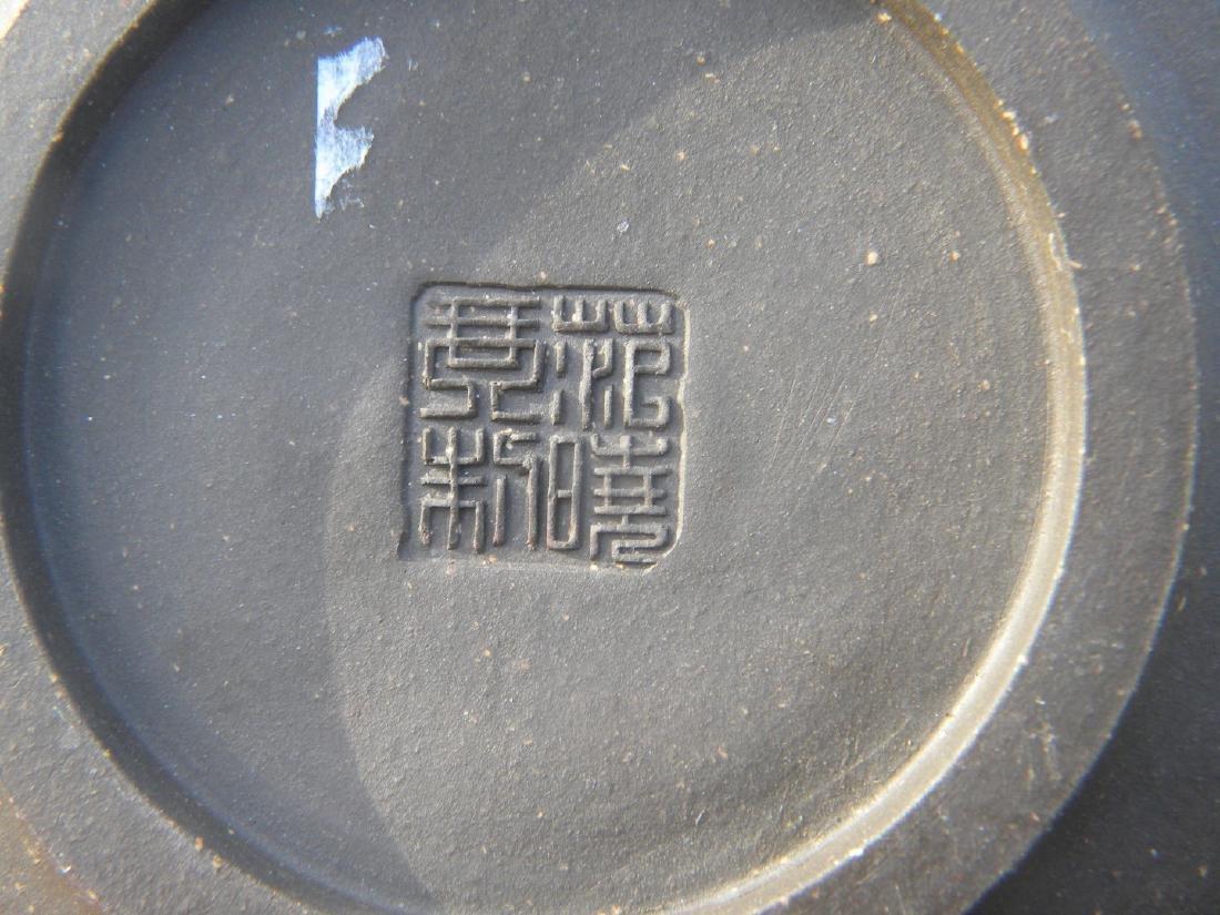 Antique Chinese Yixing Zisha Bamboo Teapot - 4