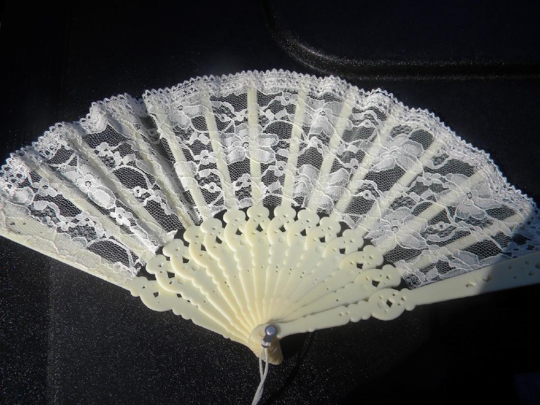 Vintage Lace Fan - 2