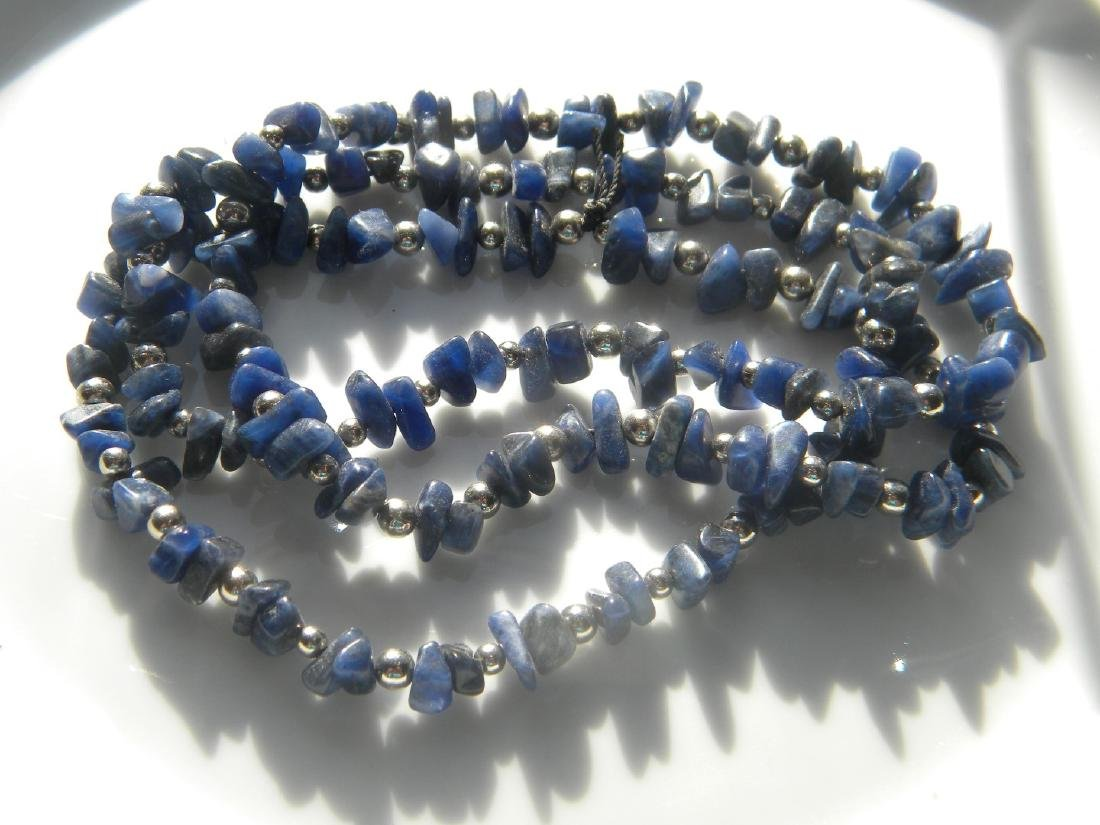 Antique Lapis Necklace - 2