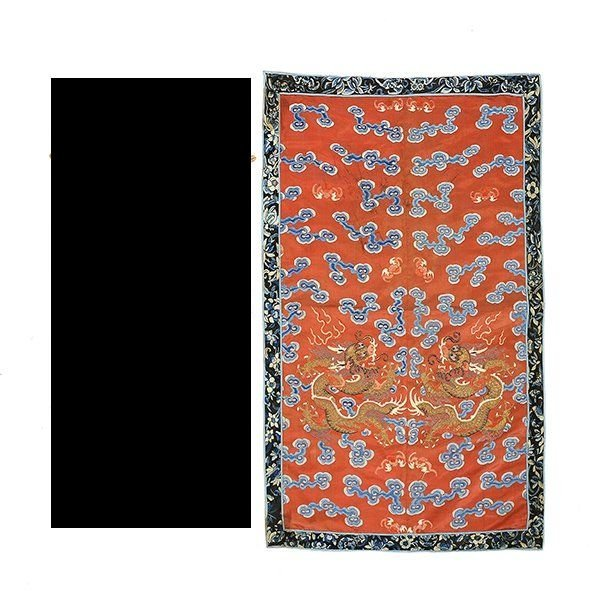 Embroidered Silk Textile Fragments, Late Qing - 2