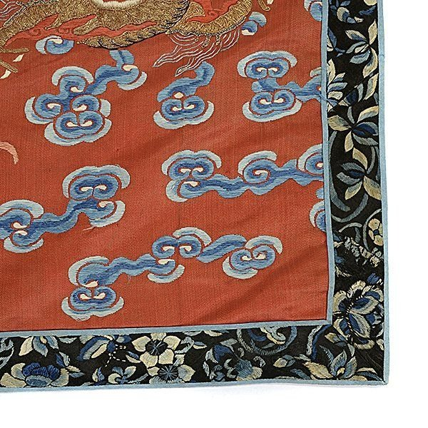 Embroidered Silk Textile Fragments, Late Qing - 3