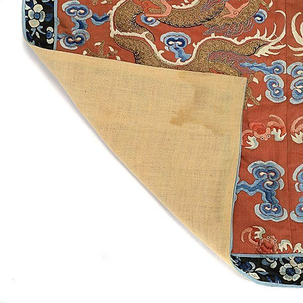 Embroidered Silk Textile Fragments, Late Qing - 4