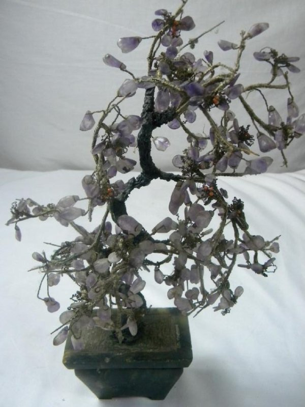 Antique Chinese Amethyst Flower Planter
