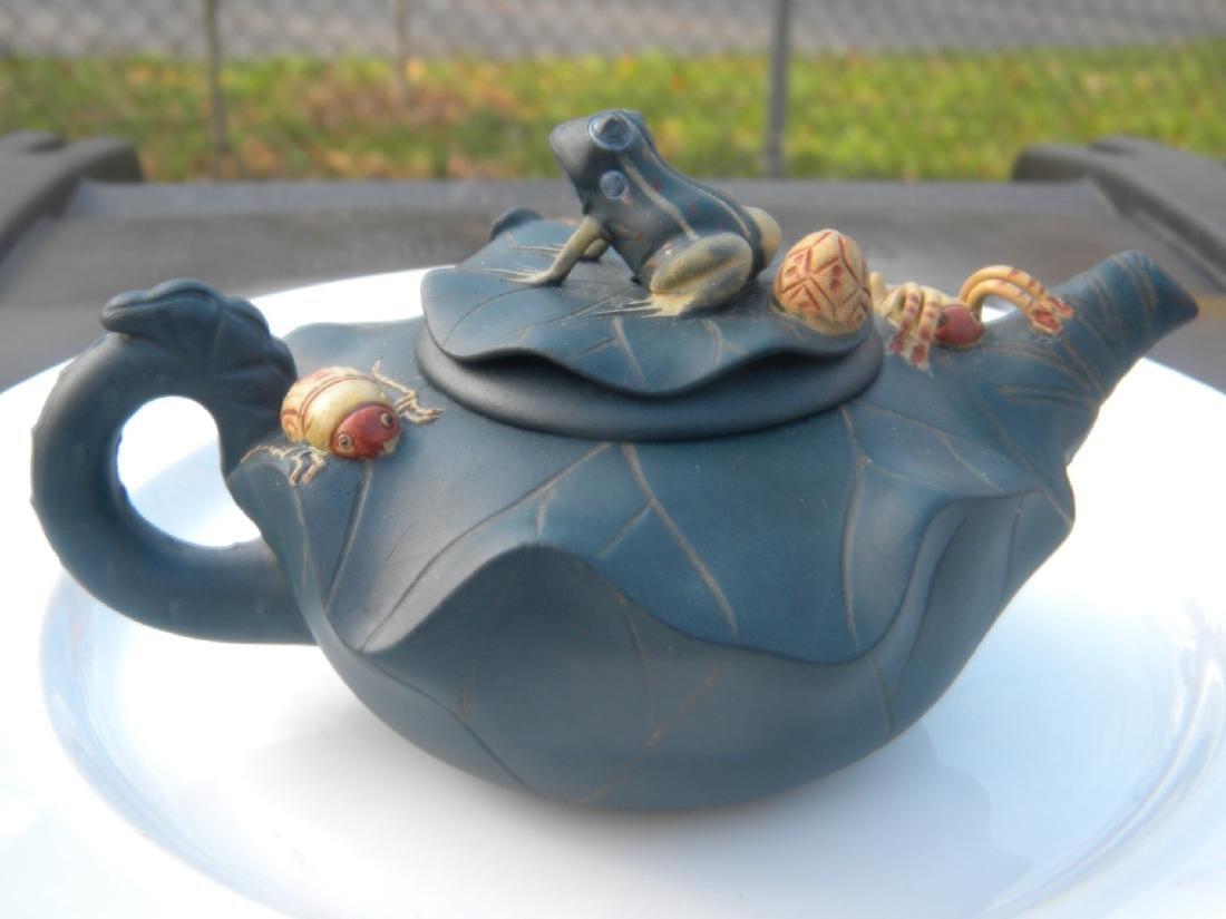 Antique Chinese Yixing Zisha Frog Teapot