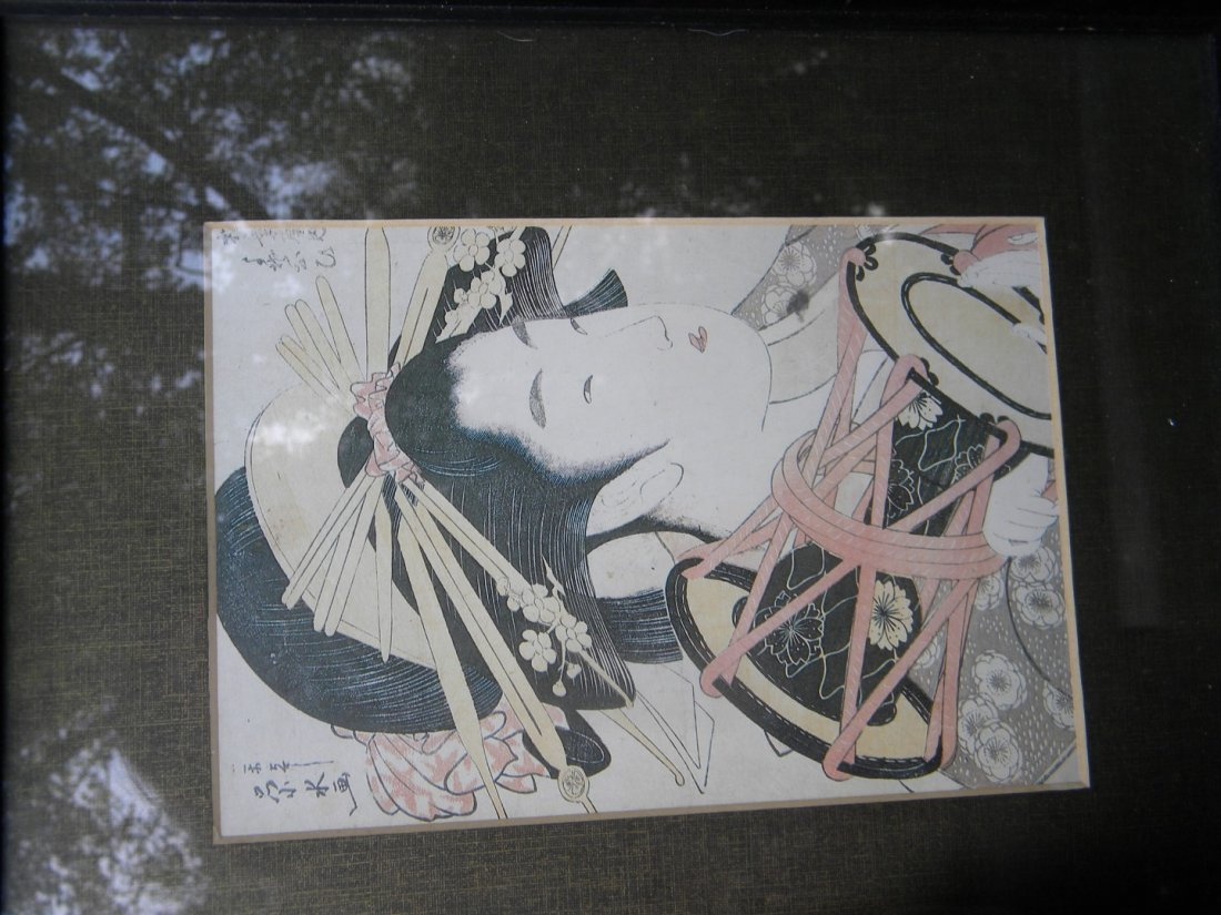 Antique Japanese Beauty Painting - 2