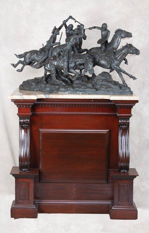 Monumental antique mahogany Bronze Pedestal with