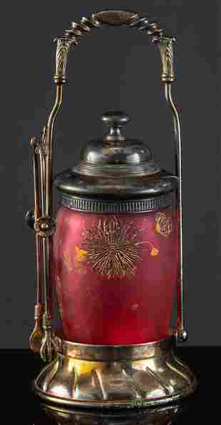 Rare Royal Flemish Victorian Pickle Castor with gold