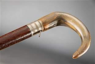 "Antique Cane Gun marked ""DUMONTHIER"" on the bottom of"