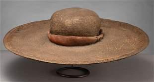 Rare and early Chinacos Hat, circa 1820-1840, Alamo