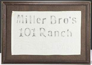 Framed Parade Banner on white cotton ch that reads