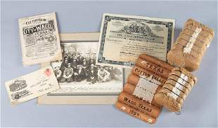 ATTENTION COLLECTORS OF WACO MEMORABILIA: Group of four