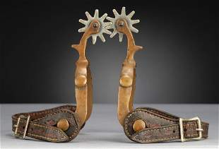 Pair of solid brass Spurs, attributed to either Anchor