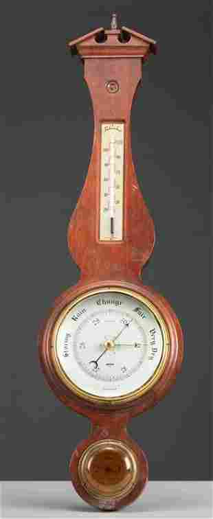 Wall hanging Wooden Barometer / Thermometer, made in