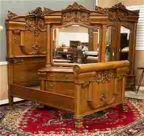 Fabulous antique, two piece quarter sawn oak Bedroom