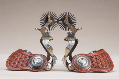 Fantastic pair of double mounted, double gal-leg Spurs