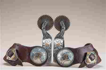Exceptional pair of engraved silver overlay, double