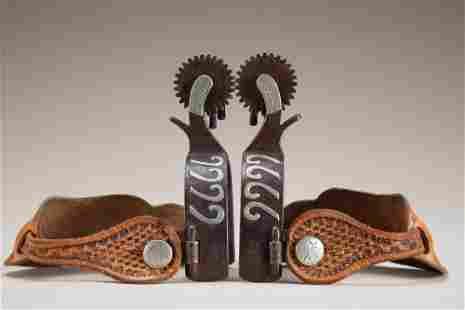 Pair of double mounted Spurs by the late Texas Bit and