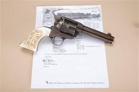 Historical Colt, SAA Revolver with Factory Letter that