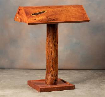 Heavy and unique custom made mesquite Saddle Stand,