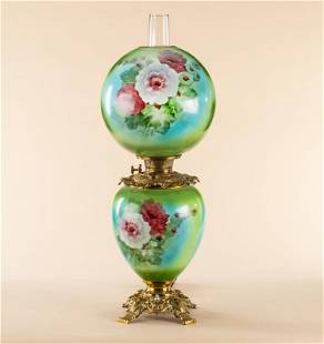 Antique Gone With The Wind Lamp, circa 1800s,