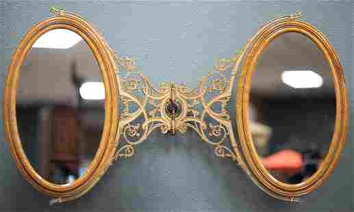 Possibly one of a kind, antique brass and birds eye