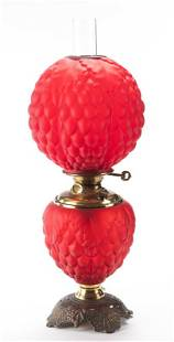 Antique red Gone With the Wind Lamp in very desirable