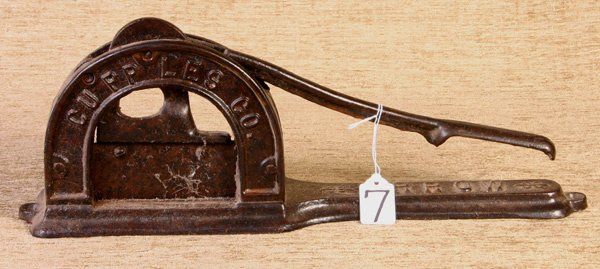 7: Cupples Company Early Cast Iron Tobacco Cutter.