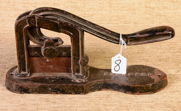 8: Early Tobacco Cutter marked Standard.