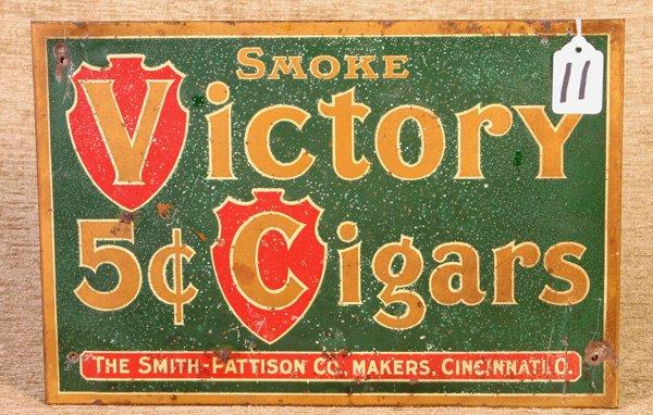 11: Victory Cigar, Smith and Patterson, Cincinnati, Tin