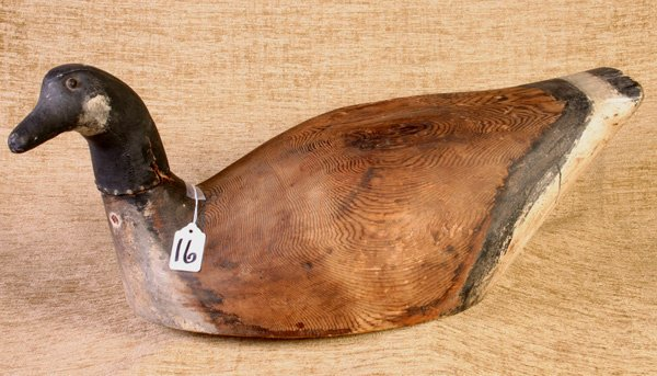 16: Goose Decoy with Leather Neck.