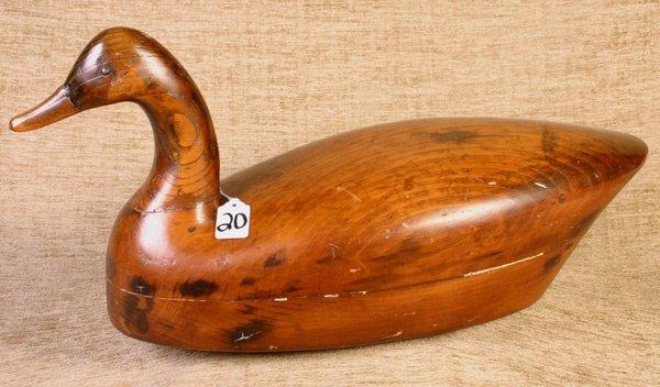 20: Large Pine Goose Decoy.