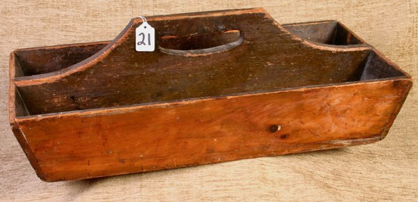 21: Early Wooden Pine Knife Box