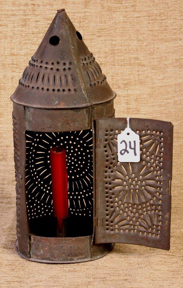 24: Early Punch Tin Lantern.