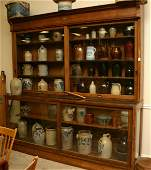 43: Fine 2 Piece Oak 8`` Country Store Display Case with