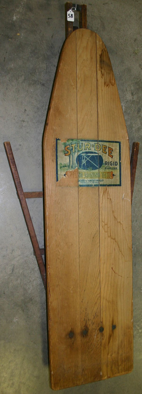 58: Early All Wooden Ironing Board, circa Turn of the C