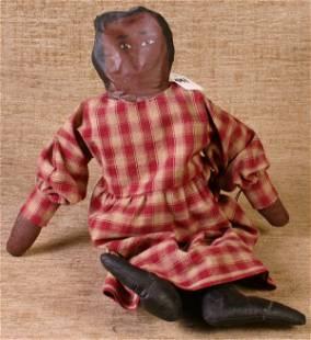Handmade Sawdust Filled Canvas Mammy Doll, 19`` lon