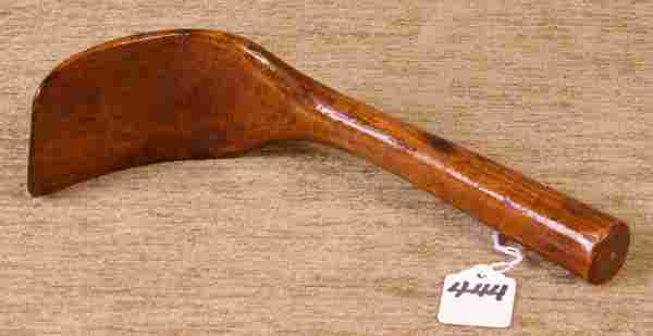 Early Handmade Wooden Scoop.