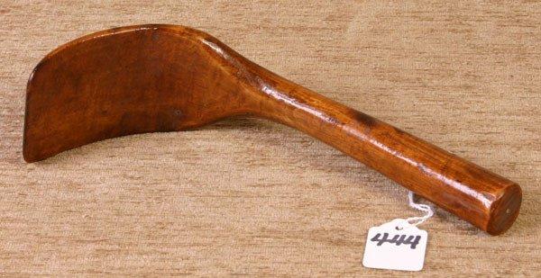 444: Early Handmade Wooden Scoop.