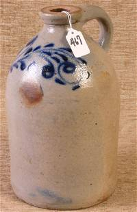 Early Nicely Decorated Stoneware 12`` Jug with Fing