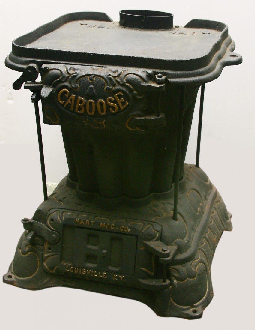 7: Rare cast iron original Caboose stove- HART MANUFACT