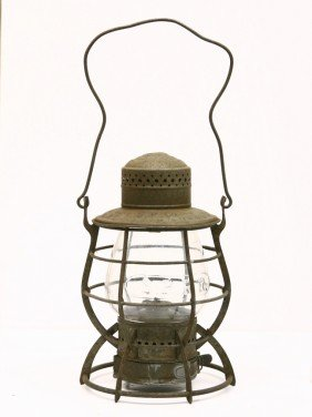 S.P. R.R. Marked Lantern By DIETZ W/ Clear Embossed