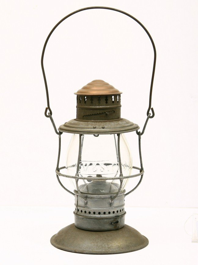13: CHICAGO-MILWAUKEE-St. PAUL RAILWAY marked lantern w