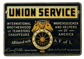 "Vintage UNION SERVICE Tin Sign 13"" X 19"" For Intern"