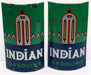 "Match pair of vintage porcelain 10 1/2""wide x 18"""