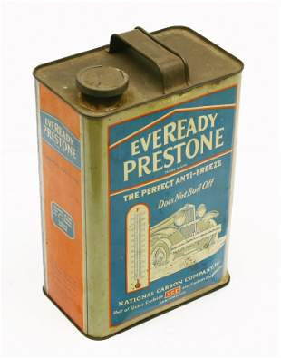 Vintage EVEREADY PRESTONE Anti-freeze advertising