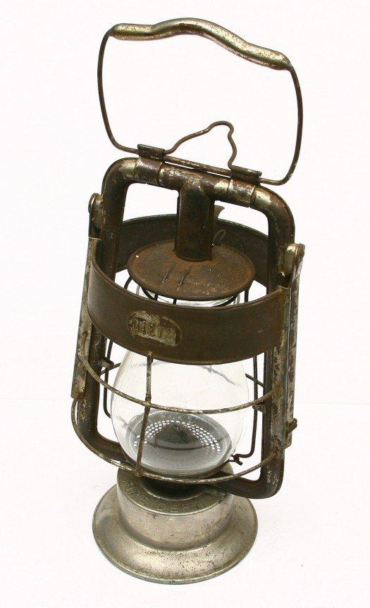 625: Vintage DIETZ KING marked Fire Dept. lantern, miss